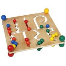 Kinder Pädagogische Klassische Holz Perlen Sequenzierung Rack Spielzeug