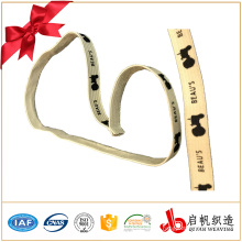 Free sample custom polyester woven/ knitted printed elastic band for garment