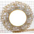 Golden Iron clear mirror MDF board Hanging Mirror