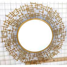 Espejo transparente de hierro dorado Tablero de MDF Espejo colgante