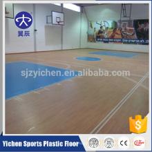Bon rebond 100% pur PVC couche d'usure couche de basket-ball à vendre