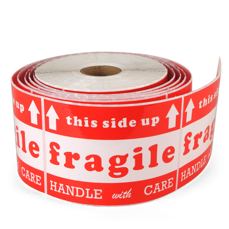 Handle with care Shipping Label