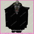RP0051 Real black color colored beaded patterns muslim abaya designs prom dress muslim formal dress