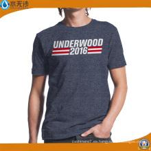 Elección al por mayor de la fábrica / impresión de la camiseta de algodón de la impresión