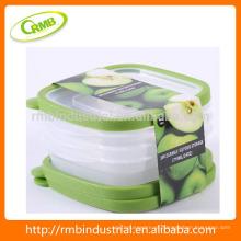 2014 new designed 3pk utensílios de cozinha alimentos / fruto recipiente de armazenamento