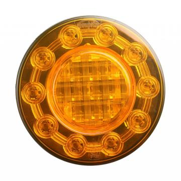 Amber E4 Truck Round Indicator Lights