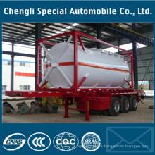 Precio bajo barato del remolque químico del tanque del tanque del combustible de la gasolina