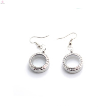 Hot Designer Ohrringe für süße Mädchen, niedrige Preis Foto Glas schwimmenden Medaillon Ohrringe