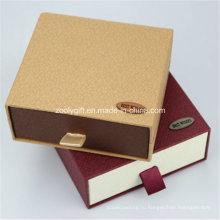 Пользовательский картонная коробка для ящика для бумаги / Раздвижная подарочная коробка / Кошелек и подарочная упаковка для ремня