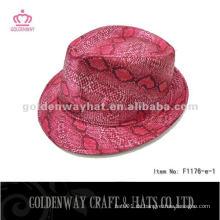 Art und Weise rote Fedora Hüte Großverkauf
