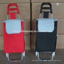 OEM design best price different colors portable foldable shopping trolley/Beach luggage trolley
