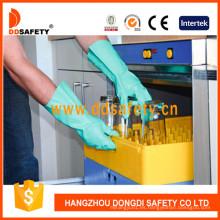 Guantes de nitrilo verdes para la industria o el hogar DHL445
