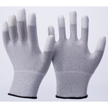 ESD PU Top Fit Conductive Gloves for Light Industry