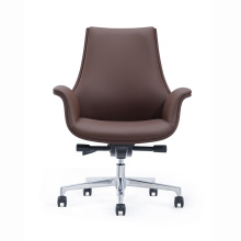 New Style Medium Back Executive Leather Swivel Meeting Chair Office Visitor Chair