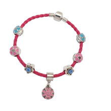 Best -Selling PInk Leather Cord Bracelet Fashion Drip Bracelet