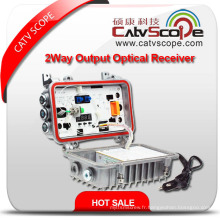 Fournisseur professionnel Csp-or-860mbn Field / Outdoor 2way Output Fiber Optical Receiver / Node