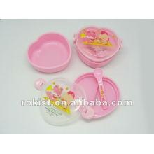 plastic children heart shape lunch box