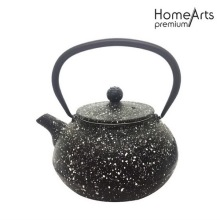 Marble finish cast iron tetsubin teapot