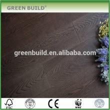 Ahumado negro Handscraped sólido ingeniería suelos de madera de nogal