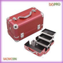 Three Large Trays Aluminum Beauty Train Case (SACMC096)