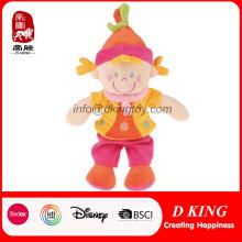 Muñeca de peluche rosa suave juguete relleno muñecas para las niñas