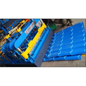 Máquina formadora de telhas para produção / Máquina para fabricar telhas esmaltadas / Formador de rolos de chapa de aço