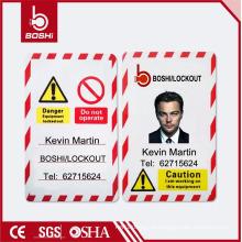 BOSHI BD-P05 Tag de PVC Tag de bloqueio de segurança, foto pessoal disponível, customização aceitável