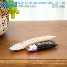 30mm diámetro único maquillaje popular Fundación bb crema forma ovalada pequeña por mayor de cosméticos tubos envase