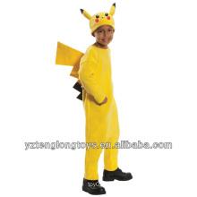 Traje de la mascota del carnaval Pikachu del tiempo de la aventura