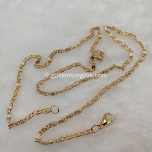Love Wish Pearl Plating Rose Gold Chain Collier