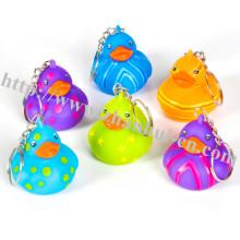 Juguetes de plástico de patrón Llavero Ducky
