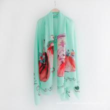 Lady Fashion Printed Viscose Spring Silk Scarf (YKY1130)