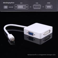 3 в 1 молнии мини Дисплей порт DP к HDMI адаптер с DVI на VGA
