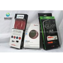 Custom Printing Electronic Phone Accessory Packing Carton Paper Hanging Earphone Box