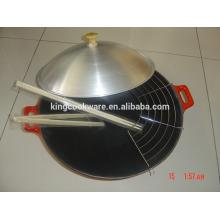fonderie de fonte Chine wok plateau