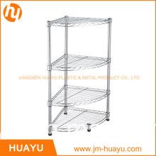30L*30W*80h Cm 4-Shelf Bathroom Shelving, Wire Storage Rack, Corner Shelving