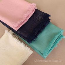 Factory supply gold thread shimmer short tassels women scarf hijab shawl