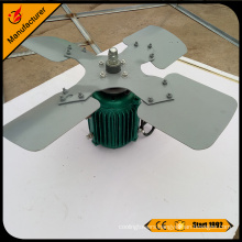 Cooling tower electric motor cooling fan blade
