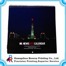 оптовая продажа пользовательские новый дизайн настенный календарь 2018
