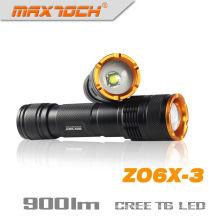Maxtoch ZO6X-3 Zoom linterna recargable emergencia antorcha