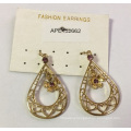 Lace Metal Earrings with Flowers