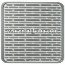 square kitchenware silicone drying mat