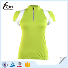 Custom manga curta Jersey bicicleta vestuário para as mulheres