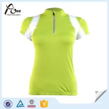 Vêtements de bicyclette Jersey à manches courtes sur mesure pour les femmes