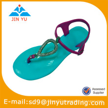 2014 womens flower jelly shoes
