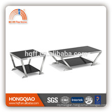 CT-08 ET-08 stainless steel glass modern coffee table