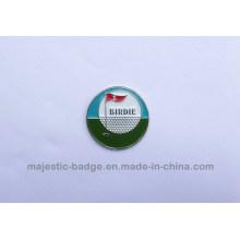 Iron Die Sturck Plating Silver Soft Enamel Golf Ball Marker (Hz 1001 G030)