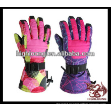 Женская мода удобная пользовательская лыжная перчатка