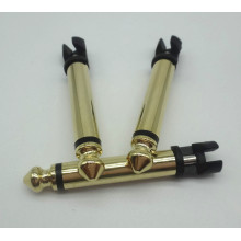 6.35 mono plug connector gold plated