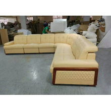 New Arrival U Shape Leather Sofa with Bed (GA1030)
